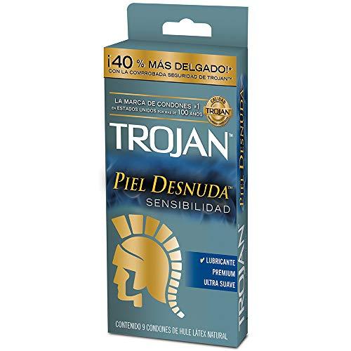 Trojan Condón Piel Desnuda, 9 piezas