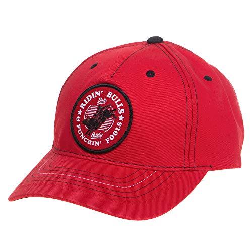 Rock &Amp; Roll Denim Mens Red Dale Brisby Ridin Bulls Cap OS