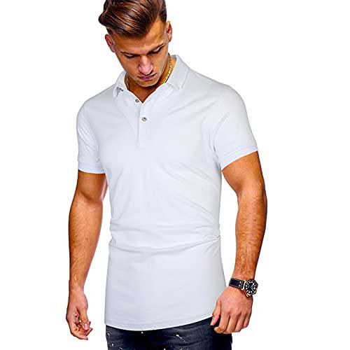 SSBZYES Camiseta para Hombre Camiseta Polo para Hombre Camiseta De Color Puro para Hombre Camiseta De Manga Corta De Verano Color Puro Casual Todo Fósforo Camiseta Polo De Manga Corta para Hombre