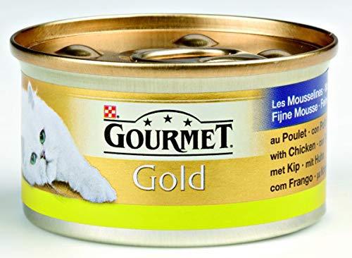 Gourmet gold fijne mousse kip kattenvoer 85 GR