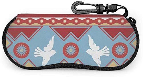 MODORSAN Spring Birds Gafas de sol Estuche blando Estuche protector para anteojos con cremallera Soporte protector con clip para cinturón