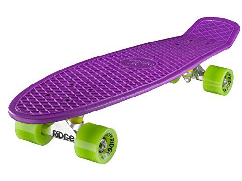 Ridge Skateboard Big Brother Nickel 69 cm Mini Cruiser, lila/grün