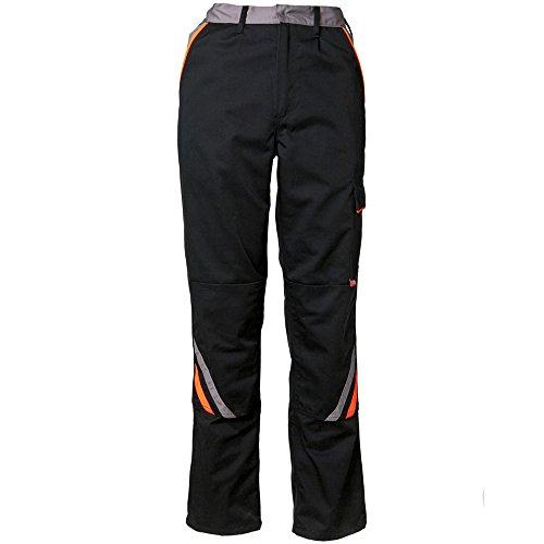 Planam bundbyxor visline, flerfärgad (svart/orange/zink), 29