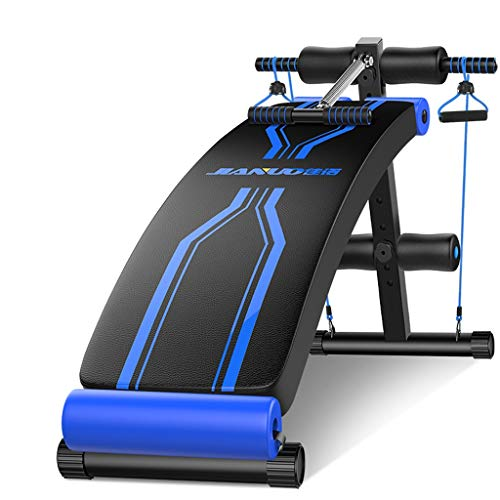 Find Discount Utility Sit Up Bench Incline Decline, Black Blue Weight Bench Crunch Board for Toning ...