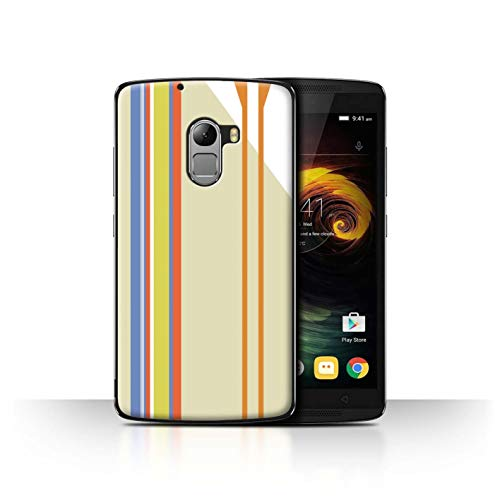 Phone Case for Lenovo Vibe K4 Note Seaside Fashion Beach Stripes Transparent Clear Ultra Slim Thin Hard Back Cover