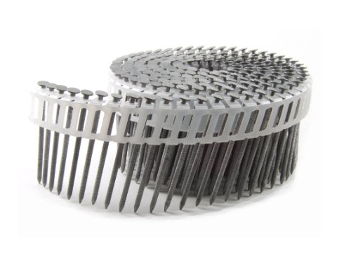 B&C Eagle A214X092HDRPC Round Head 2-1/4-Inch x .092 x 15 Degree Hot Dip Galvanized Ring Shank Plastic Collated Coil Framing Nails (800 per box)