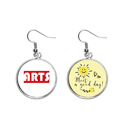 Course And Major Single Word Arts Red Ear Drop Sun Flower Earring Jewelry Fashion