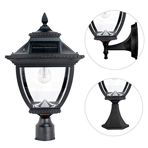 GAMA SONIC Pagoda Bulb Solar Lamp, Wall/Pier/3