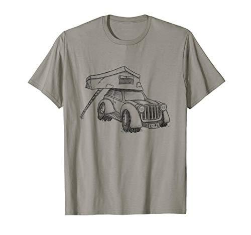 Coole Dachzelter Camping Skizze Offroad Truck Dachzelt T-Shirt
