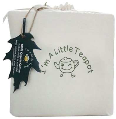 I's A Little Teapot Organic Cotton Crib Mattress Protector Pad Product Image