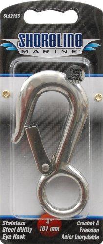 Shoreline Marine Stainless Steel Utility Eye Hook, 4 Inch (316)