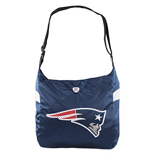 """Littlearth womens NFL New England Patriots Jersey Tote , 15"""" H x 14"""" W x 4"""" D"""