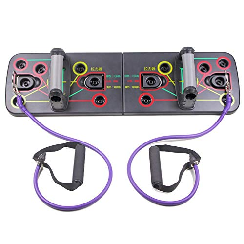 Kinshops Push Up Rack Board Building Board Power Rack Sports Gym Push Up Bars Exercise Multifunction Rope Training Board