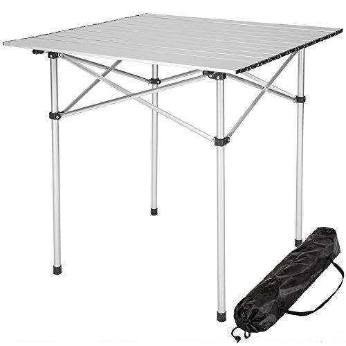 TecTake 401169 Table Pliante de Camping Jardin BBQ Barbecue Pique-Nique Portable en Aluminium