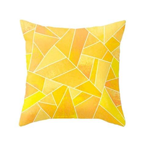 New Geometric Yellow Pillowcase Sofa Decoration Cushion Diy Printing Pillow Chair Car Seat Cushion Christmas Home Decoration 8