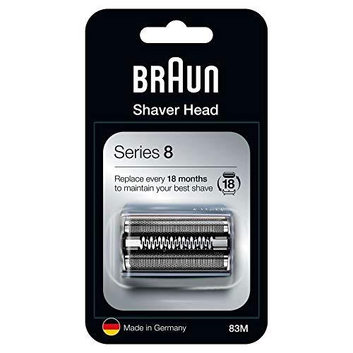 Braun Series 8 83M Elektrorasierer Ersatzscherteil – silber – kompatibel mit Series 8 Rasierern