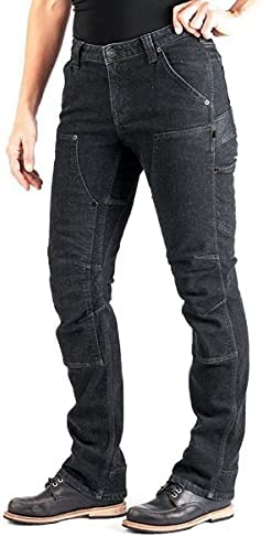 Dovetail Workwear Britt Utility - Black Thermal Denim 00x28