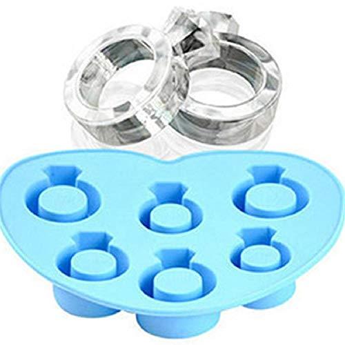 pzcvo Molde para Helados Moldes Silicona Helados Bandejas de Cubo congelador para bebé Bola de Hielo moldes Blue