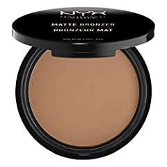 MATTE BRONZER: Bronzer, but make it matte! Get a radiant glow without the glitter, with NYX Professional Makeup Matte Bronzer. This matte-finished pressed powder bronzer is perfect for that tan glow all year long, in shades to accommodate all skin to...