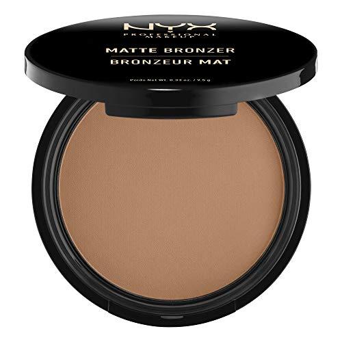 NYX Professional Makeup Poudre Compacte Bronzante Corps et Visage Matte Bronzer, Sans Reflets, Medium