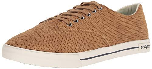 SeaVees Men's Hermosa Plimsoll Varsity Sneaker, Golden Brown, 8 M US