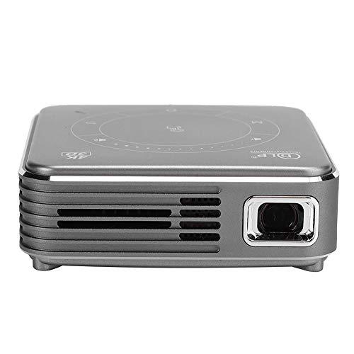 Proyector multifunción Inteligente 3D, Q6 RGB Led Mini Smart Dlp portátil 4K Decodificación Cine en casa Sin Pantalla TV, 3D 2G + 16G 110-240V, Corrección Trapezoidal Manual(Negro)