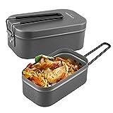 KingCamp Brotbox Auslaufsichere Brotzeitbox aus Aluminium Ultraleichte Essenbox mit Handgriff Dichte Brotdose Lunchbox ohne Plastik BPA