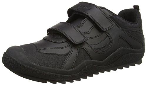 Geox J Attack Jongens Low-Top Sneakers, Zwart (Zwart C9999), 8.5 Kind UK (26 EU)