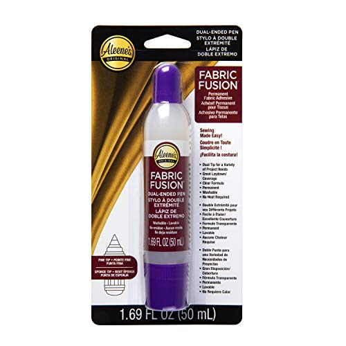 Aleene's Fusion Dual-Ended Pen 1.69 fl oz, Permanent Fabric Adhesive, No Sew Solution