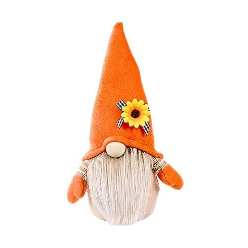 Hummel Sonnenblume gesichtslos Gnom Plüsch rühlingswichtel Plüsch Gesichtslos Pointed Hat Plüsch Puppe Süß Zuhause Zwerg Gnom Gesichtslose Puppe Kawaii PlüSch Puppe Thanksgiving Home Decor