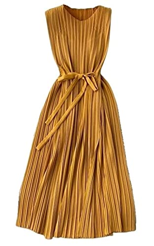 Laura Lily - Nuevo 2021 Vestido Largo Mujer. Estilo Bohemio. Falda Plisada,...