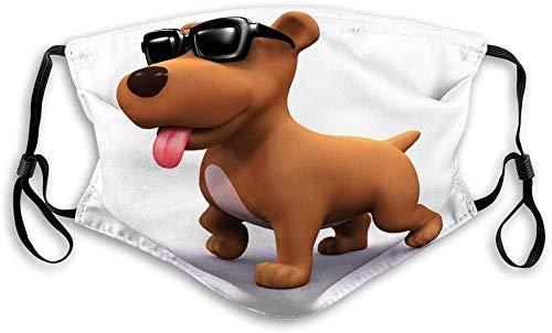 Stofdichte Sport Fave Cover Filter Bescherming Neus Mond Cover Stof Anti Vervuiling Proof Gezicht D Cool Hond Render Het dragen van Zonnebril Schilderen Gezicht