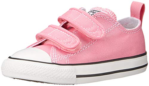 Converse Girls' Chuck Taylor All Star 2V Low Top Sneaker, Pink, 5 M US Toddler