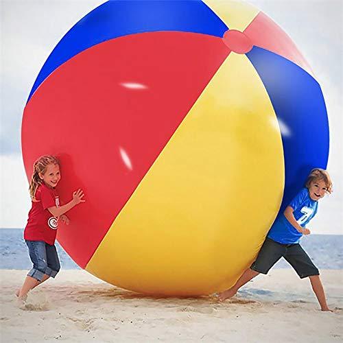Riesiger Aufblasbarer Wasserball, 80 cm / 100 cm / 120 cm / 150 cm / 200 cm Durchmesser Extra Großer Aufblasbarer Wasserball Pool Spielzeug Jumbo Strandball für Strandpoolpartys Sommerspaß,200cm