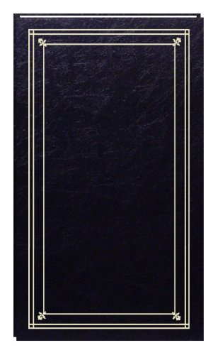 Pioneer Photo Albums 204-Pocket Post Bound Slim Line Leatherette Cover Photo Album for 4 by 6-Inch Prints, Black