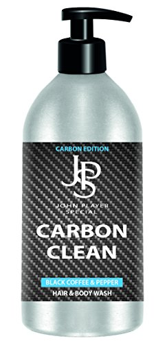 John Player Special JPS Carbon Edition Black Coffee & Pepper Hair & Body Wash, 1er Pack (1 x 500 ml)