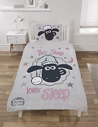 Shaun the Sheep Bettwäsche-Set, Polycotton, Mehrfarbig, Einzelbett