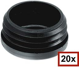 Design61 10x Vierkant Rohrstopfen 40x40mm mit Lamellen f/ür Innenma/ß 36-37mm