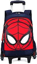 Spiderman Captain America Six Wheels Trolley School Bags backpack Oxford cloth vacation travel bag(Spiderman dark blue)