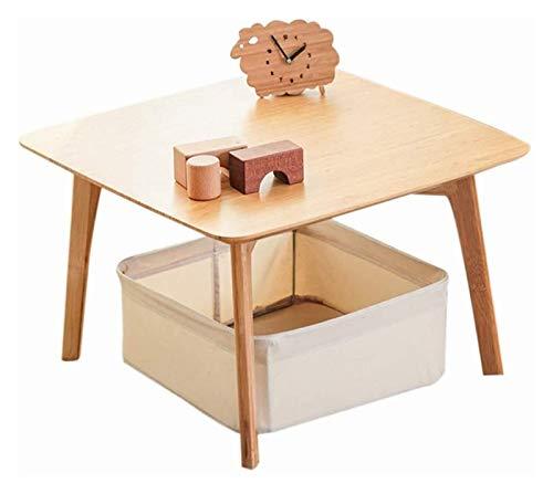 HLZY Mesa Baja Mesa Baja Pequeñas mesas auxiliares Mesa de café Tatami japonés de café con Estilo de bambú té Informal Mirador Bajo Fuerte y Firme Regalos para Amigos