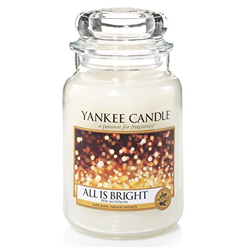 Yankee Candle Scented Candle | All is Bright Large Jar Candle | Burn Time: Up to 150 Hours