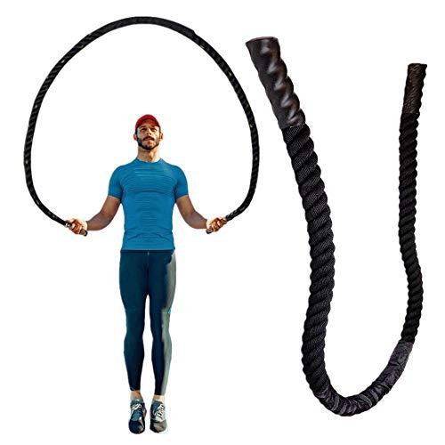 Corde A Sauter25Mm Fitness Heavy Jump Rope Weighted Battle Cordes À Sauter Power Training Améliorer La Force De Renforcement Musculaire Fitness-2.8M