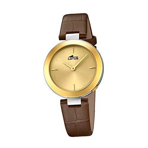 Lotus Reloj para de Cuarzo con Correa en Cuero Genuino 18484/2