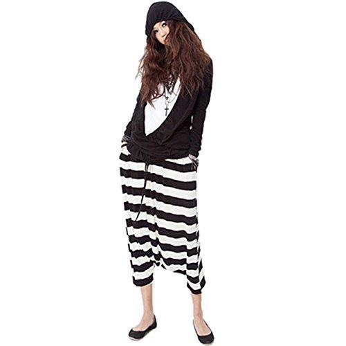 ECYC Pantalon Pantyhose Baggy Harem Pant pantalon large femme, zèbre