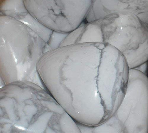Howlita Blanco Tumblestones - Grande