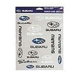 Subaru Official Logo Decal Sticker Sheet 12 pcs Set Removable WRX STI Forester Outback Impreza Crosstrek Ascent BRZ Impreza