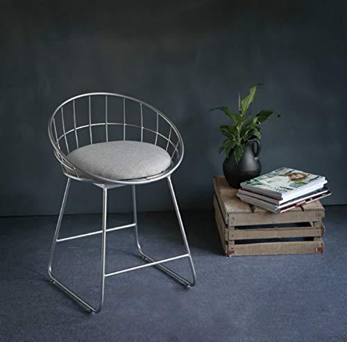 Jinyang Productos de calidad Taburete alto simple Creativo Casual Nordic Ring Cafe bBar Mesa y silla, Tamaño: alto 45 cm (negro mate) Jinyang (Color : Silver White)