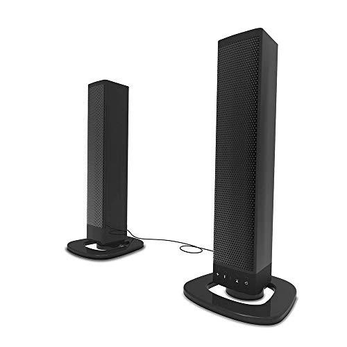 LITING soundbar voor tv, Bluetooth soundbar met geïntegreerde subwoofer, kabelgebonden en draadloos surround-geluidssysteem voor tv, pc, tablet, smartphone