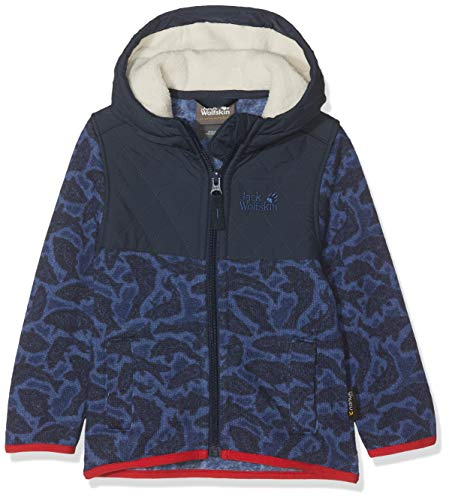 Jack Wolfskin Kinder NORDIC HOODED JACKET KIDS Fleecejacke, night blue all over, 104