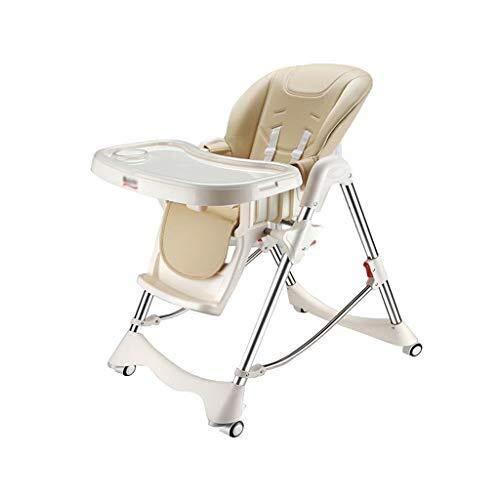 YDHYYDQCFJL Baby Hoge Stoel - Baby Eetstoel Baby Kinderstoel Multifunctionele Eetstoel Verstelbaar Opvouwbaar Met Wiel
